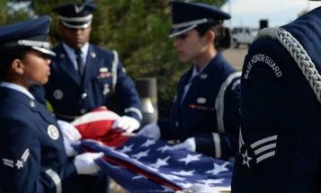Hundreds of strangers turn up for funeral of unclaimed Air Force vet