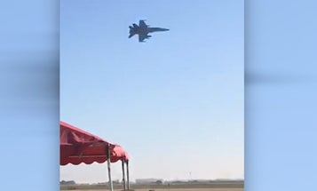 Watch the F/A-18 flyover that cost a Marine squadron commander his job