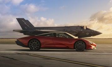 A new 'Top Gear' episode features a drag race between a McLaren and an F-35 fighter