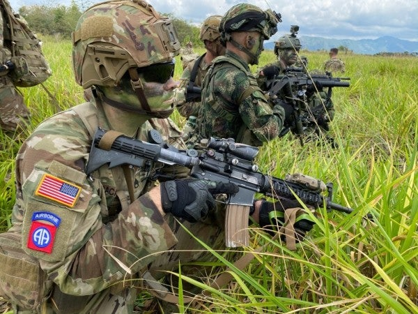 Jump alongside the 82nd Airborne with a paratrooper's wild skydive video from Colombia