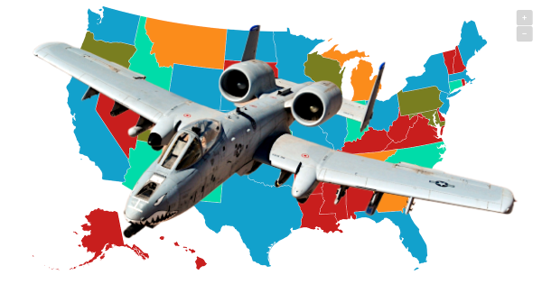 BRRRT vs. BRRAPP: How Americans describe the glorious sound of the A-10 firing, in 2 maps