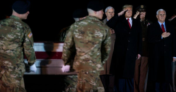 Trump travels to Dover AFB to honor 2 soldiers killed in Afghanistan insider attack