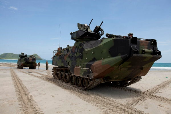 The Marine Corps plans on cutting thousands of personnel and culling its fleets of MRAPs and AAVs