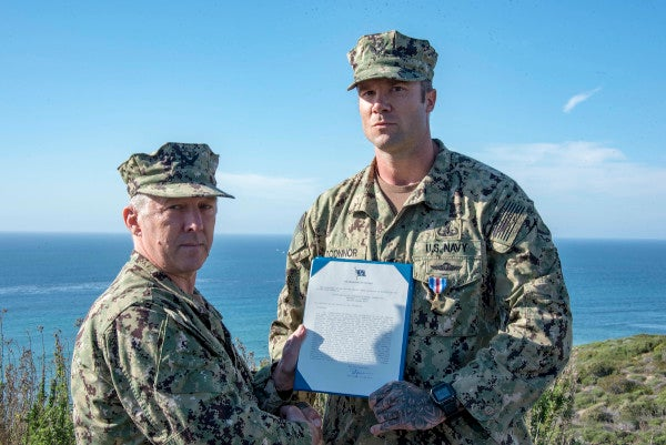 Navy EOD chief awarded Silver Star for saving teammates during intense firefight in Iraq