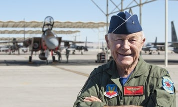 Legendary pilot Chuck Yeager, who broke the sound barrier, turns 97