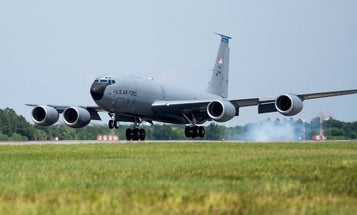 KC-135 carrying middle school girls makes emergency landing at Macdill Air Force Base