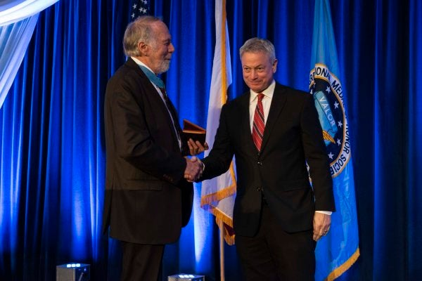 Gary Sinise was just honored with the Congressional Medal of Honor Society's Patriot Award