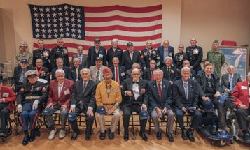 Dozens of Iwo Jima veterans mark battle's 75th anniversary at Camp Pendleton