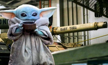 We salute the Army crew that named their tank 'Baby Yoda'