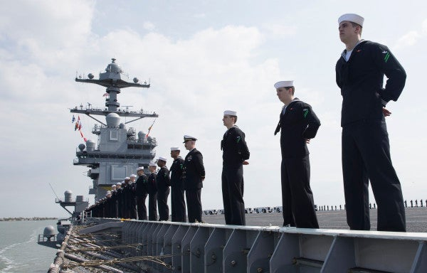 The Navy's newest aircraft carrier just crushed a major operational milestone despite the threat of COVID-19