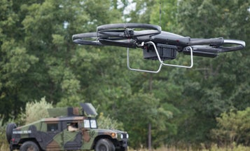 The Army is testing ammo-hauling drones to resupply soldiers during a firefight