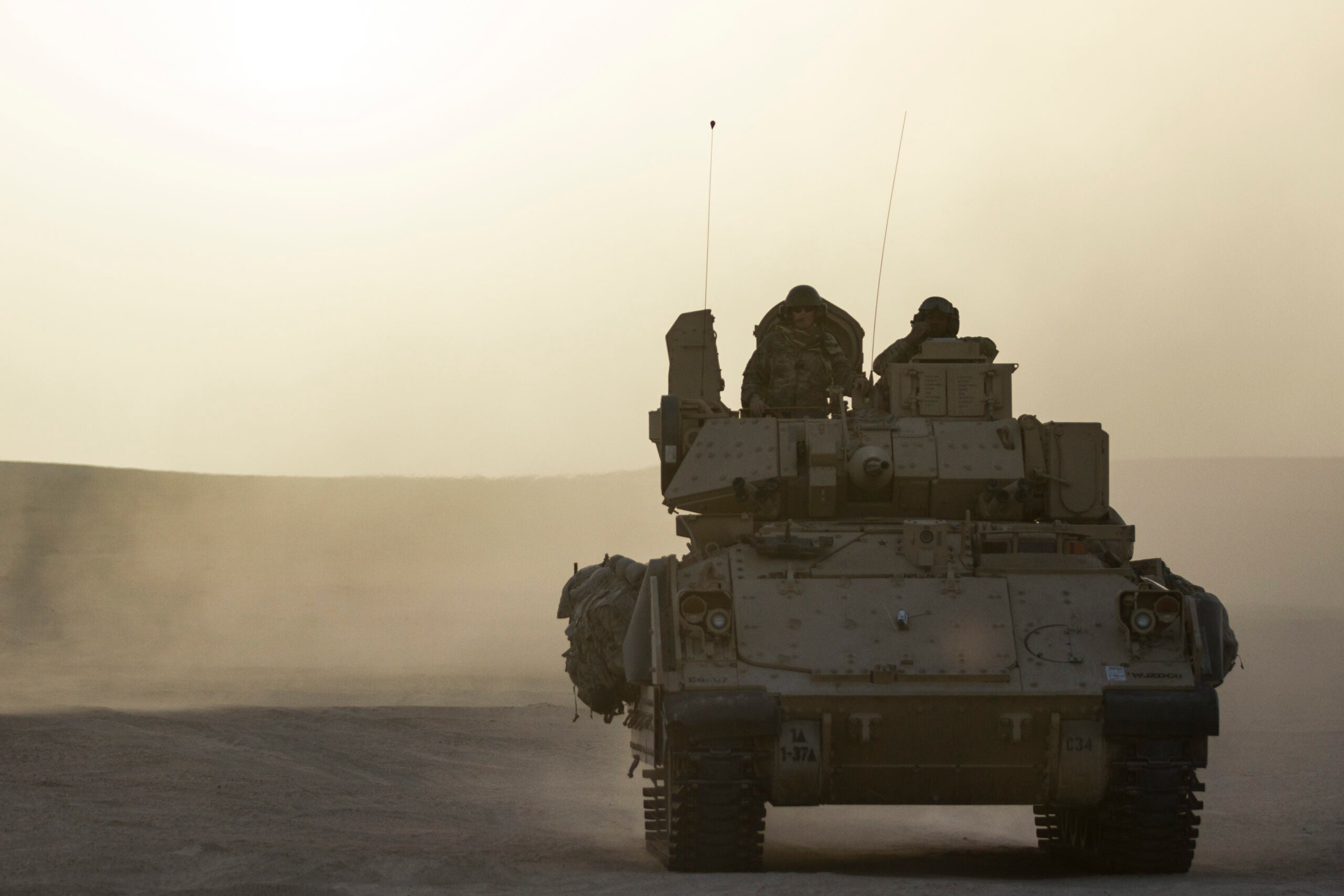 The US is sending Bradley Fighting Vehicles back into Syria for additional force protection