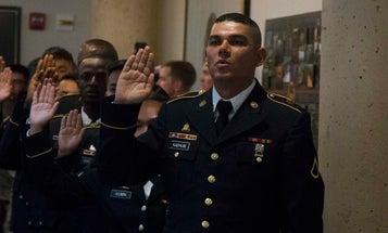 Pledging allegiance from Iraqi interpreter to US soldier to American citizen