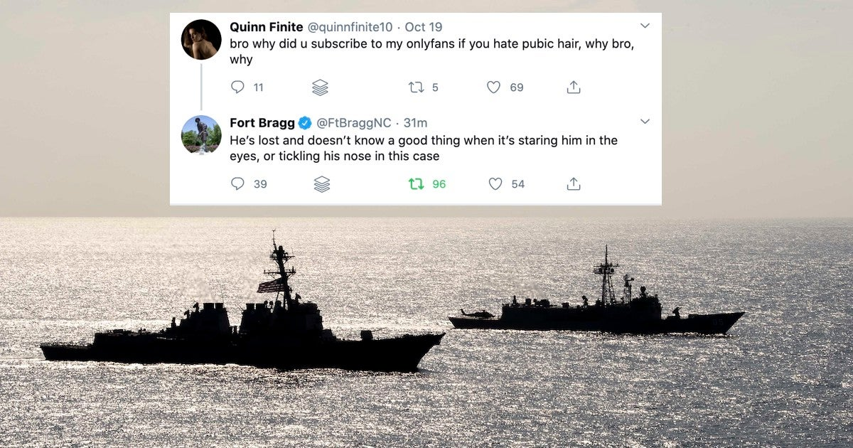 The Navy is trolling the Army over Fort Bragg's horny tweets