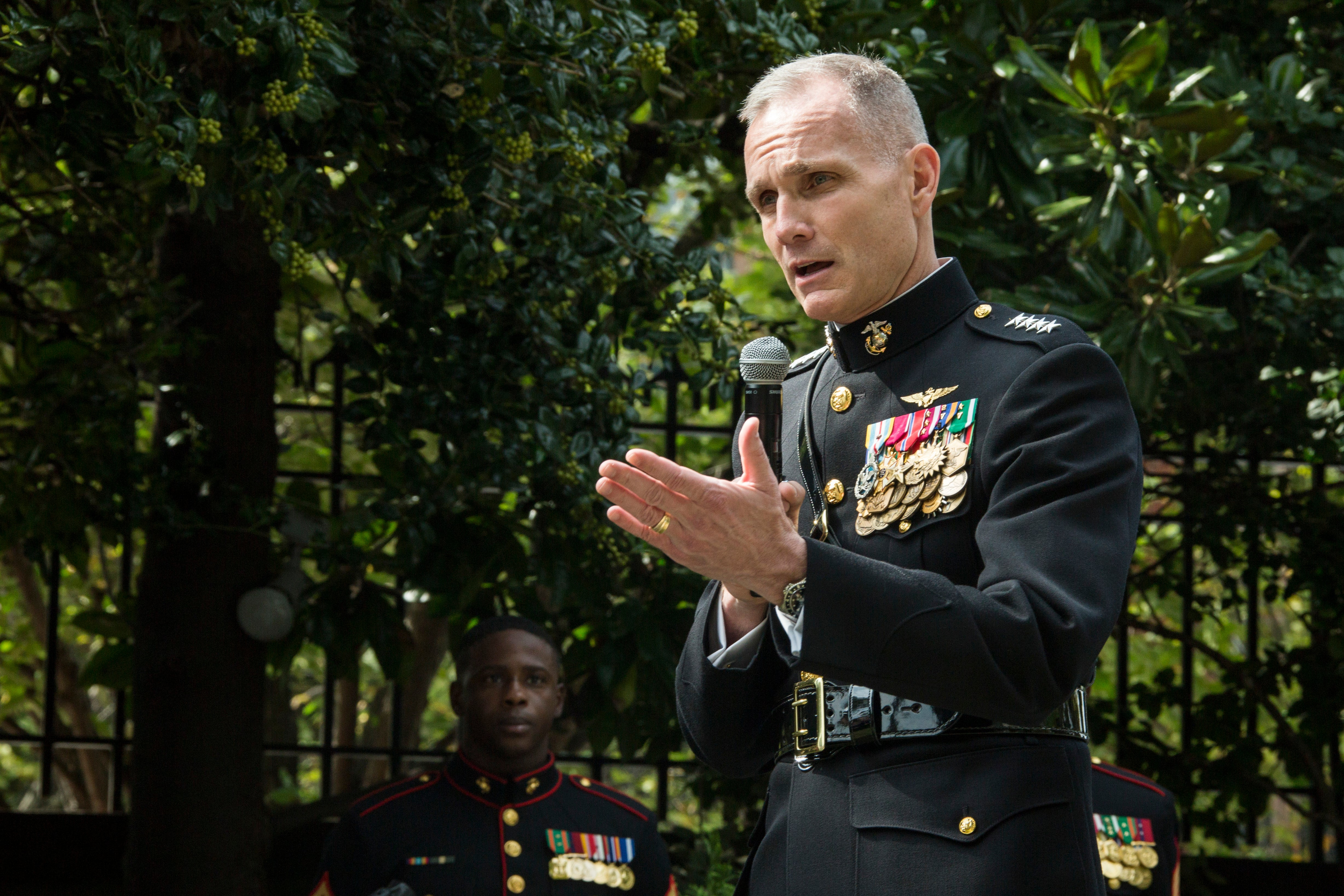 The Marine Corps' #2 officer just tested positive for COVID-19
