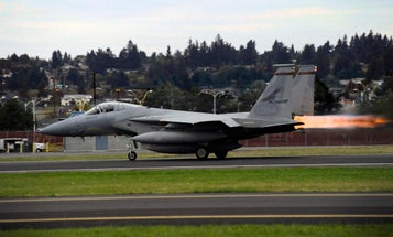 Armed F-15C skids off runway during emergency landing at Joint Base Andrews