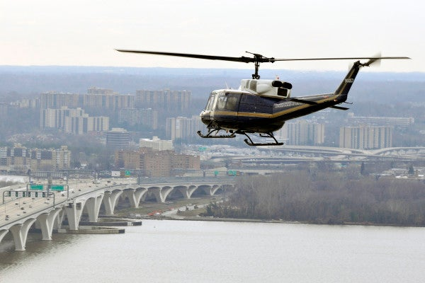 Air Force helicopter shot at while flying over Virginia