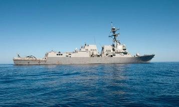 Navy destroyer sails near Venezuelan coast in clear message to Maduro regime