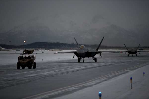 An F-22 pilot describes it's like to get up close and personal with Russian aircraft over the Arctic