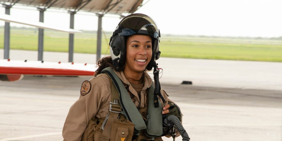 Meet the Navy's first Black female fighter pilot