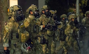 The Department of Homeland Security says it will replace the military-style uniforms worn by its agents