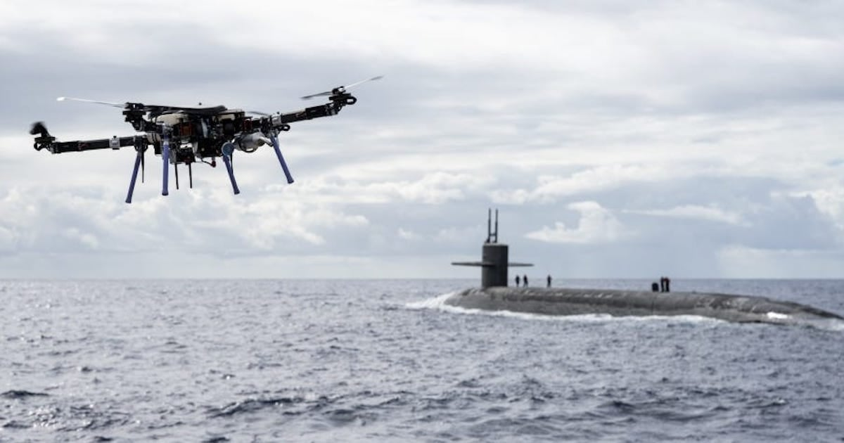 The Navy is experimenting with using drones to resupply ballistic missile submarines