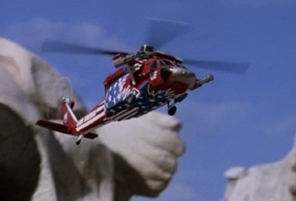 This star-spangled Navy helicopter looks like it was plucked straight out of 'Team America'