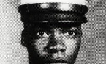 He raced through incoming fire so he could put himself between an enemy's rifle and a wounded Marine