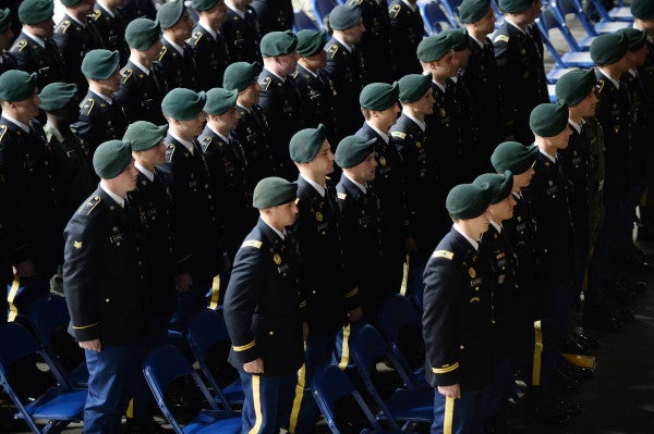 A woman is about to finish Green Beret training for the first time in history