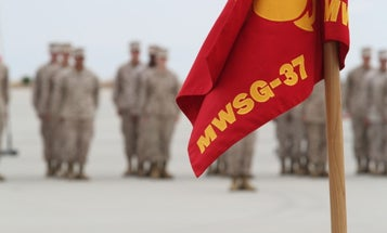 Marine aviation support unit cases its colors amid push for a 'lighter and faster' Corps