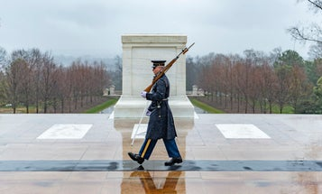 The Tomb of the Unknown Soldier remains guarded 24/7 despite the threat of COVID-19