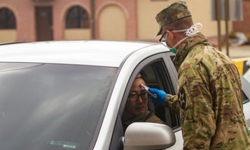 The wife of the first service member to test positive for coronavirus is also infected