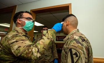 The first US service member to test positive for COVID-19 has recovered