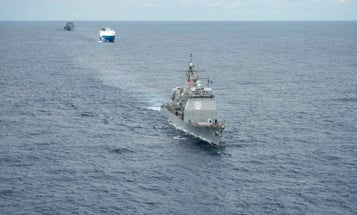 The Navy is practicing escorting convoys across the Atlantic for the first time since the Cold War
