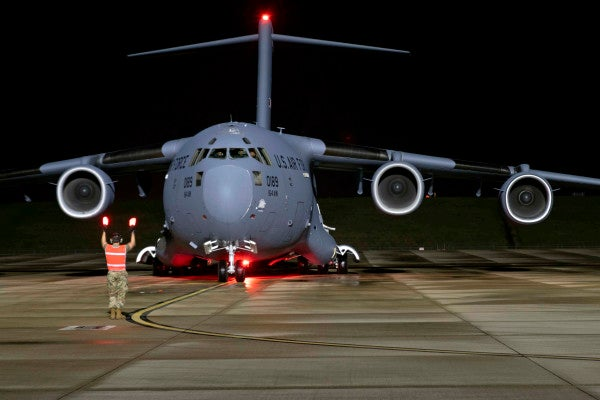 The Air Force flew a million COVID-19 test swabs from Italy to Tennessee
