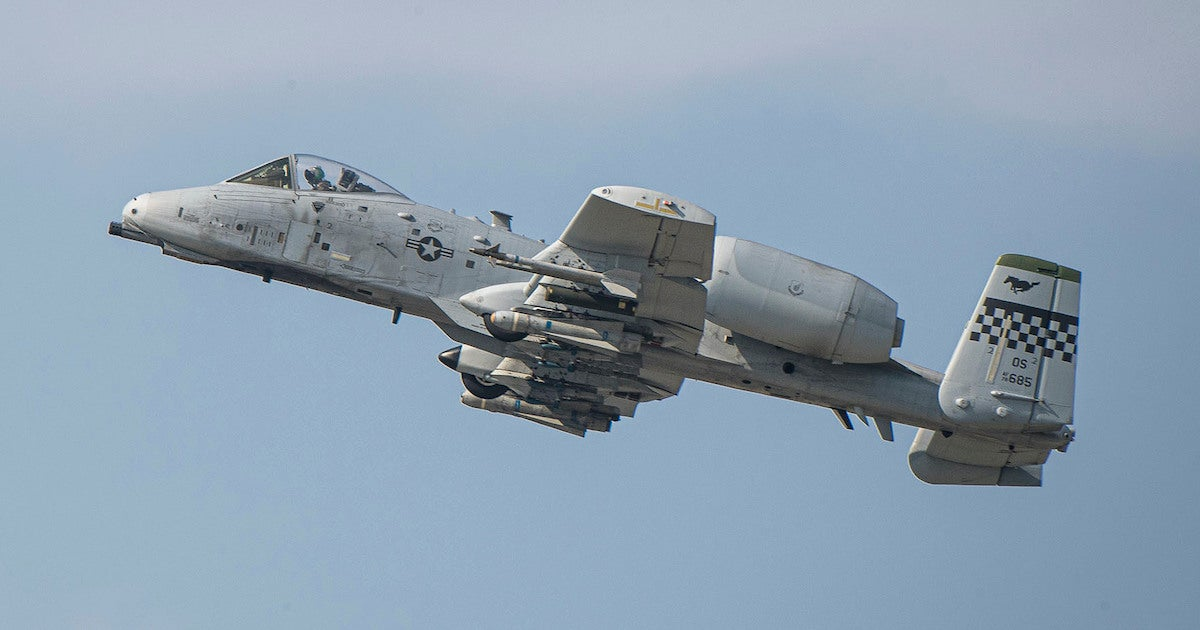 An A-10 Thunderbolt accidentally lost a munition somewhere in South Korea