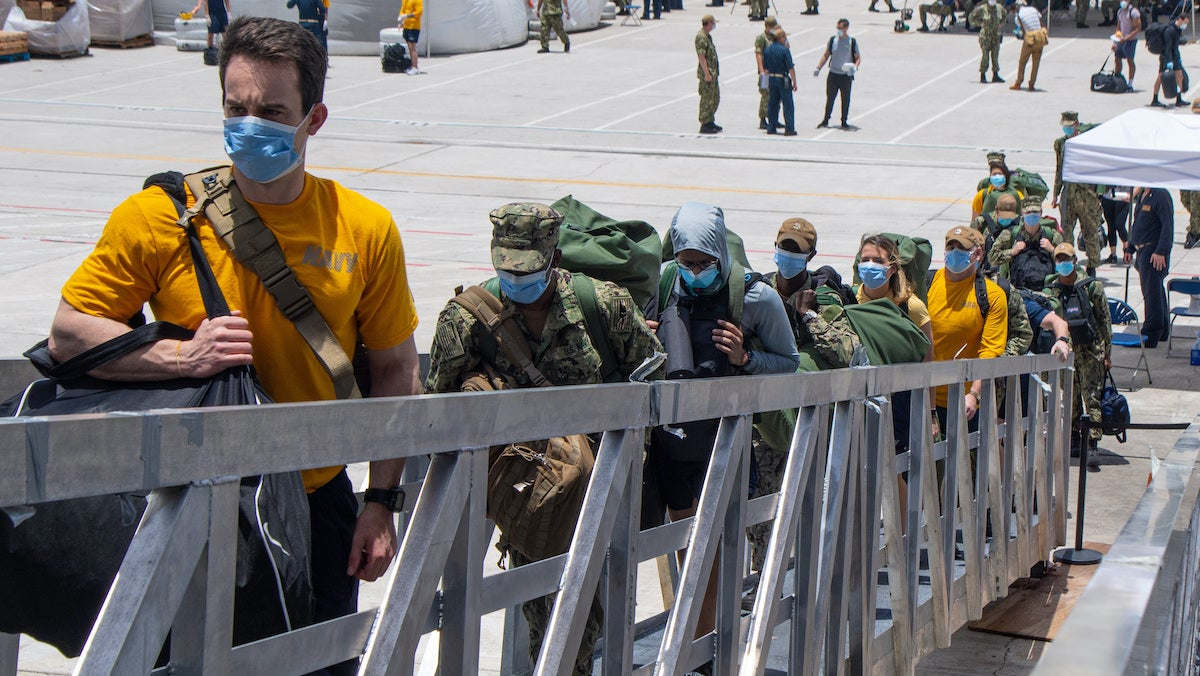 Enlisted sailors on Navy warships are at higher risk of COVID-19 than officers, study finds
