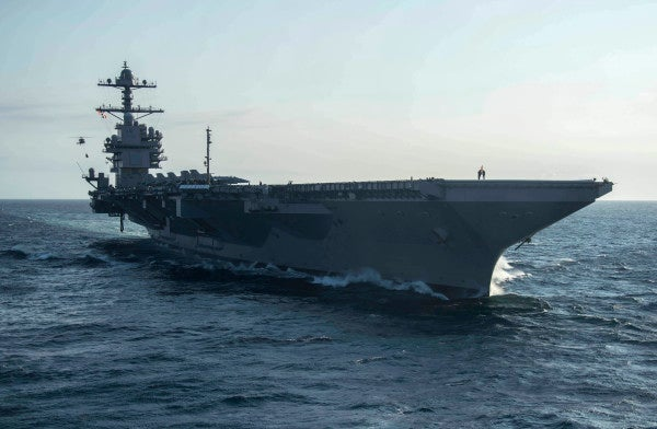 The Navy's $13 billion supercarrier still doesn't have working weapons elevators and aircraft launching systems