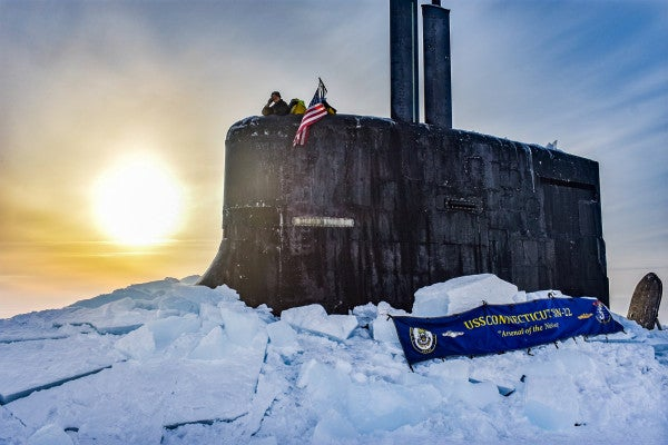 Navy submarines ventured back into the Arctic for training as Russia kept watch