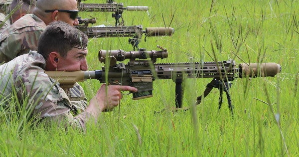 The Army has officially fielded its new squad designated marksman rifle