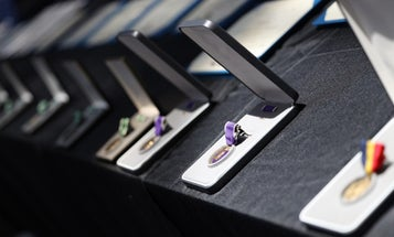 Sailors and Marines receive heroism medals and Purple Hearts for actions during NAS Pensacola shooting