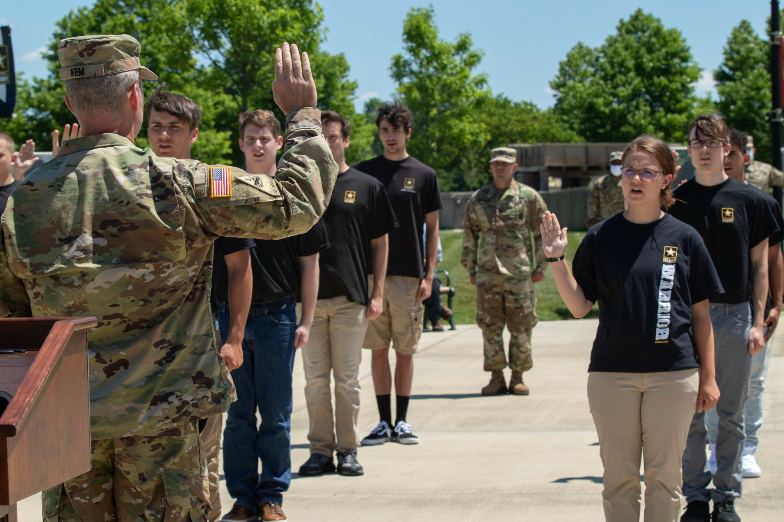 The Army on its slight increase in recruiting women and minorities: Please clap