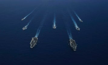 The Navy rocked back-to-back dual carrier operations in the Pacific to send a message to adversaries