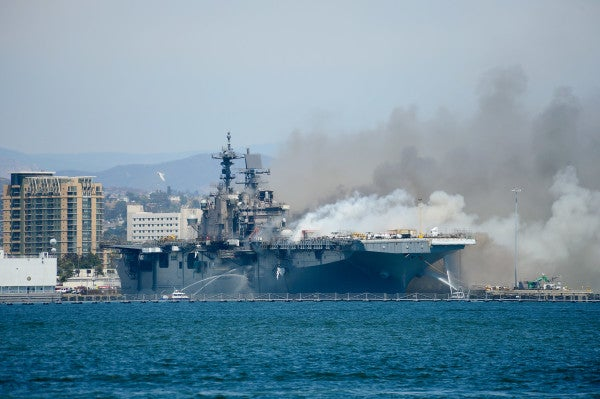 Smoke from USS Bonhomme Richard fire contained toxic chemicals, contradicting Navy claims