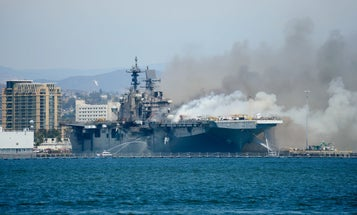 Fires and flooding have absolutely devastated the USS Bonhomme Richard, the Navy's top officer reveals
