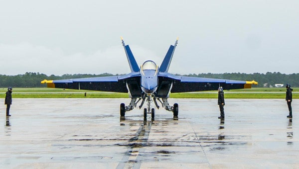The Blue Angels just received their first F/A-18 Super Hornet