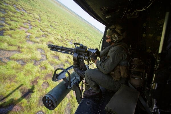 This is what it's like to spend your days firing 3,000 rounds a minute as a helicopter door gunner