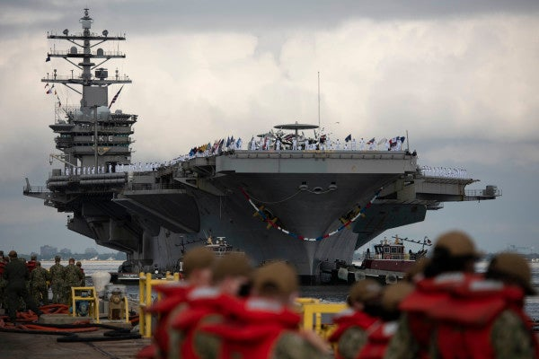 Eisenhower carrier strike group returns home after record-breaking 7 months at sea avoiding COVID-19