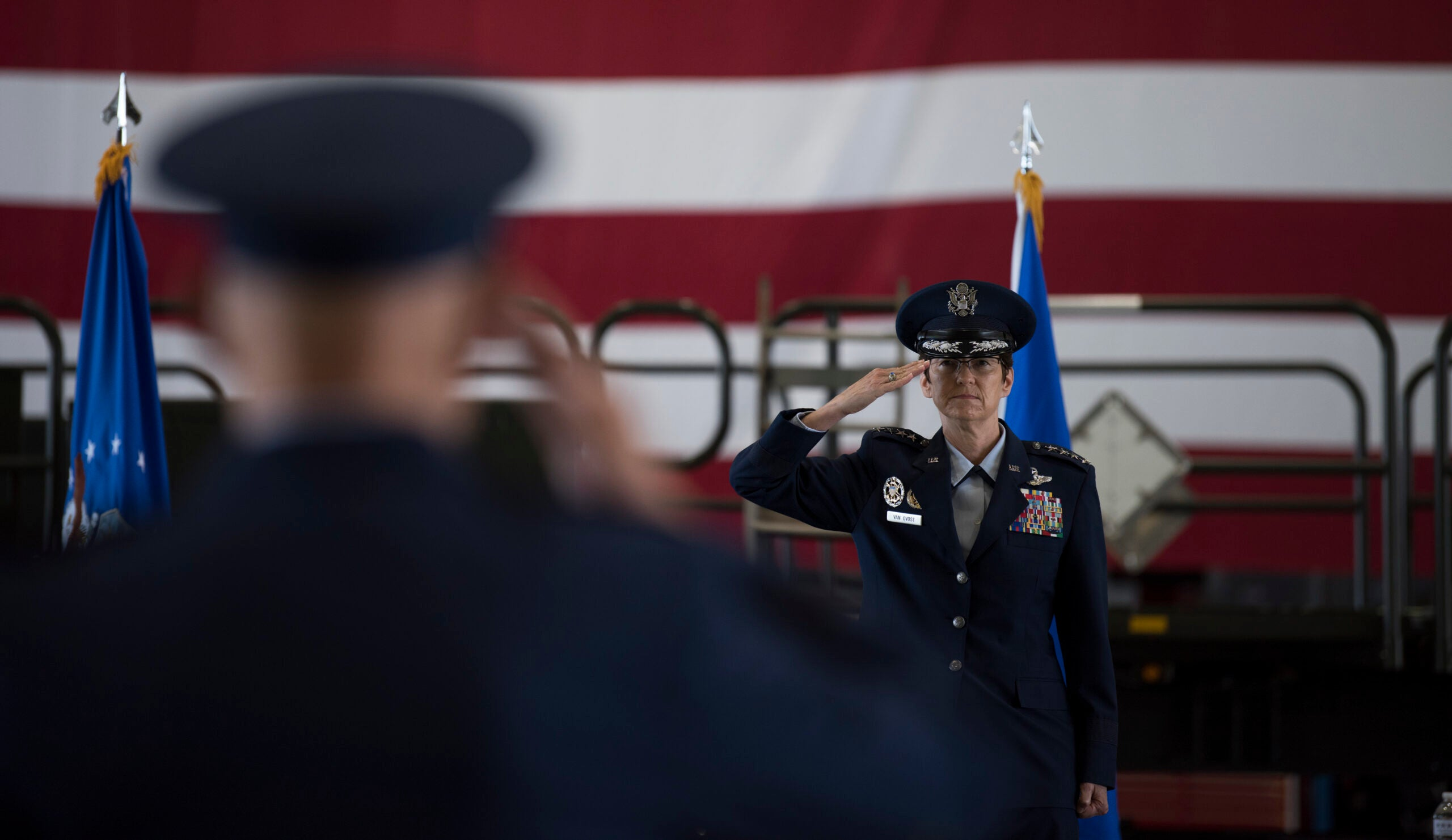 She once was barred from fighter jets. Now she's the Pentagon's only female four-star
