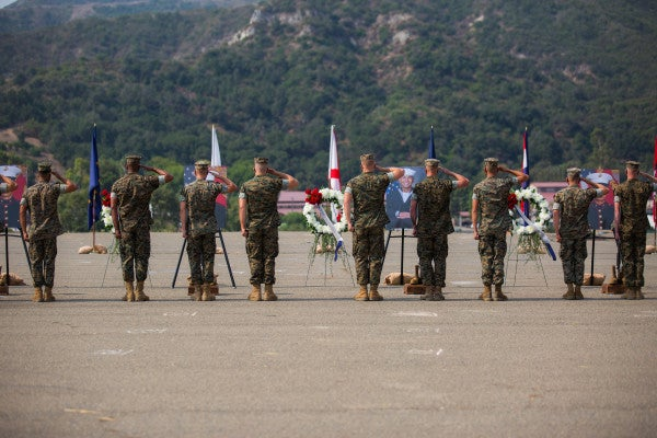 Ceremony held at Camp Pendleton for Marines and sailor killed in tragic AAV sinking